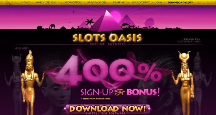 Slots Oasis Casino Review & Bonuses
